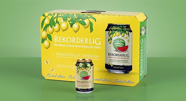 Åbro – Rekorderlig Cider, Citrus-Watermelon, design sommarcider 2014