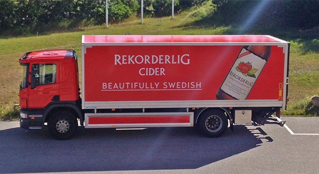 Åbro – Rekorderlig Cider, design lastbil