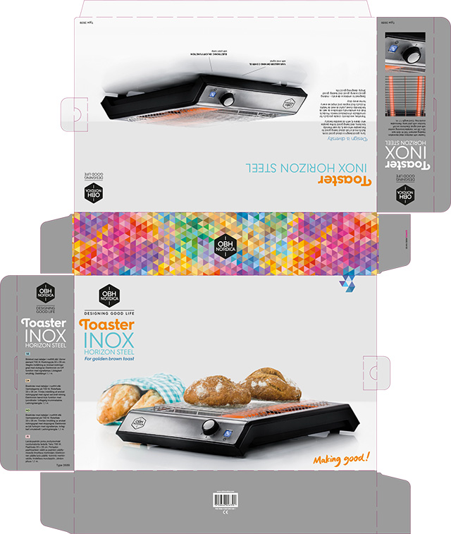 Inox-flat-toaster