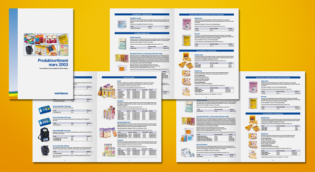 Nutricia – Produktkataloger, foldrar och DR