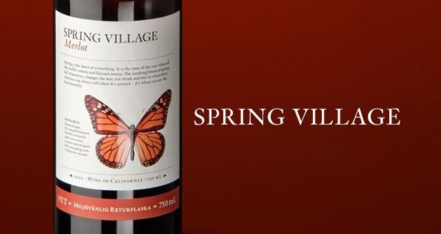 Spendrups Vin – Spring Village, förpackningskoncept & reklam