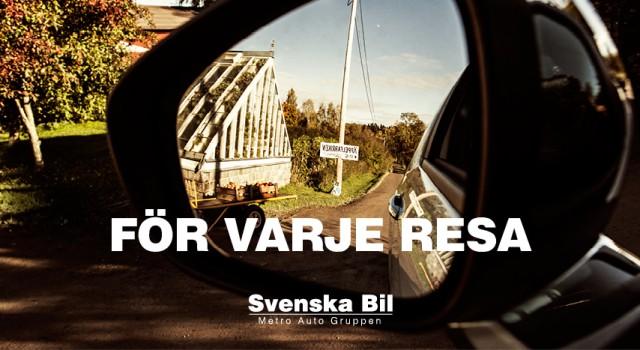 """Svenska Bil – Varumärkesplattform / Reklamkoncept – """"För Varje Resa""""."""